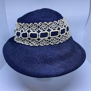 Vintage Union Made Blue & White Hat
